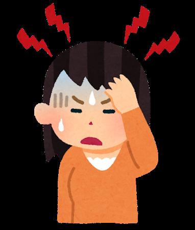 頭痛の女性 イラスト