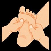 足の調整 イラスト